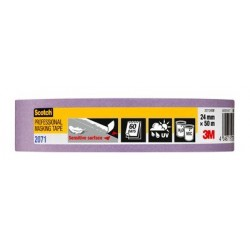 Nastro di mascheratura Scotch® 207124SW in carta liscia - 24mm x 50m